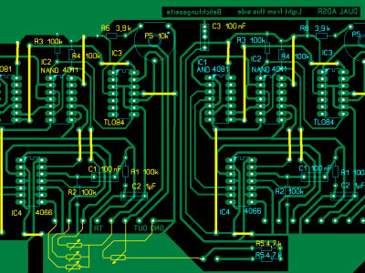 Component side of PCB of Dual ADSR