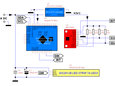 Schematic of the LED balance