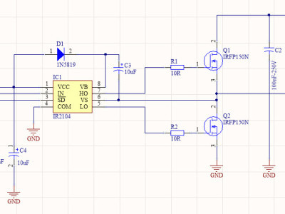 Figure-1,The schematic diagram of the powerful DC motor driver