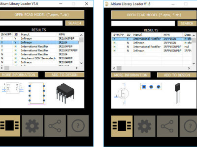Figure-3,Selected component libraries for the IR2104 and IRFN150N