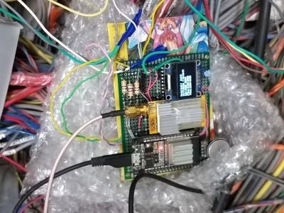 The uploader unit kept on inside the panel floor