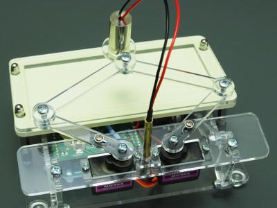 Laser Plot Clock - front view