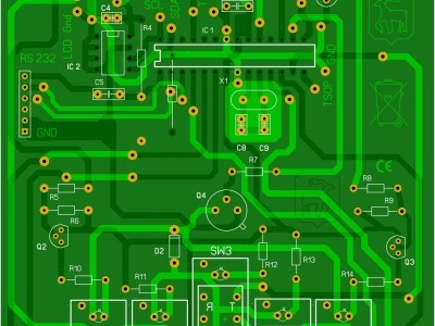 Vue photo circuit imprimé principal