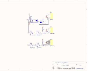 PIC32 Sound Pad Schematic - MIDI part