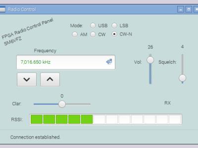 Screendump of Radio Control app