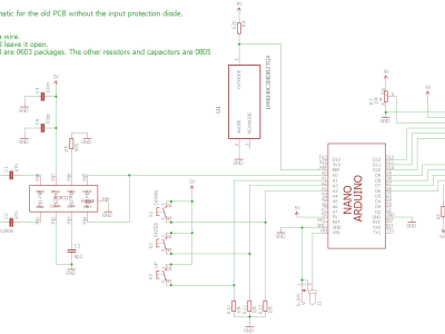Only use this when you work with the old pcb without input power protection diode!