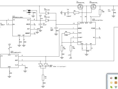 Figure 1: schematic diagram of the soft start circuit