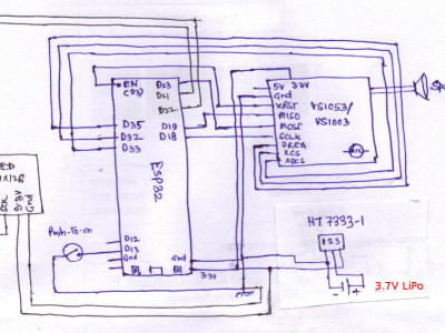 schematic with a OLED