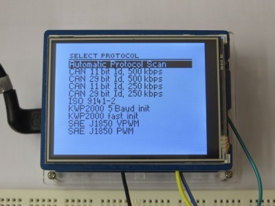 Select Protocol Screen
