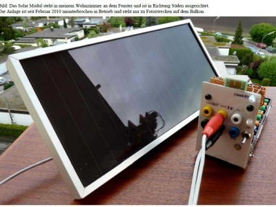 Solar-Modul mit Charger