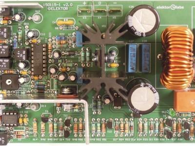 Top view 200W Class-D Audio Power Amplifier 150115-1 v2.1