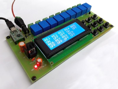 9-Channel Relay Control Board with PC Interface (130549)