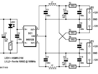 alimentation pour sondes différentielles – par port USB