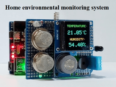 Home environmental monitoring system