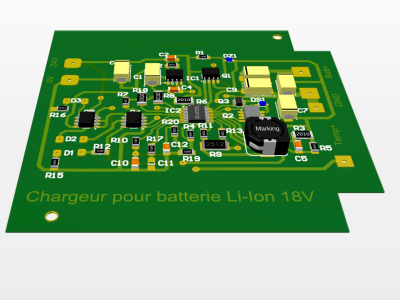 Charger for 3.6V to 22V @ 4A Li-Ion batteries