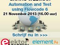 Elektor-webinar: Automation & Test Using Flowcode V6
