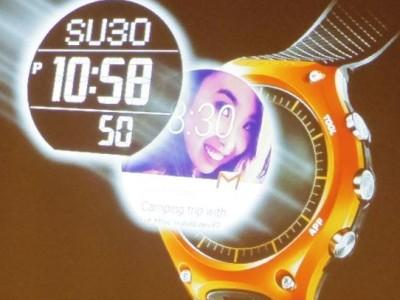 Zuinige smartwatch met tweelaags LCD