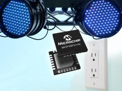 Nauwkeurig voedingsmonitor-IC van Microchip