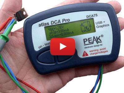 PEAK DCA75: Geavanceerde draagbare halfgeleider-analyzer
