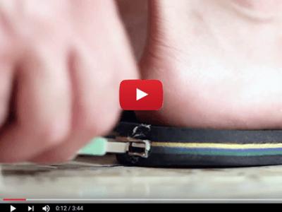 Lichtvoetig lucht-drumstel met Arduino