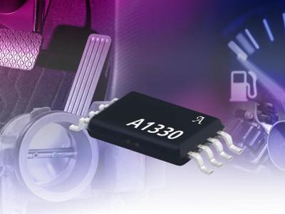 Hoeksensor-IC's met analoge en PWM-output en bereik van 360°