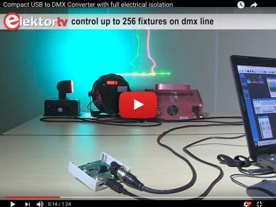Galvanisch gescheiden USB/DMX512-converter (<1 kV)