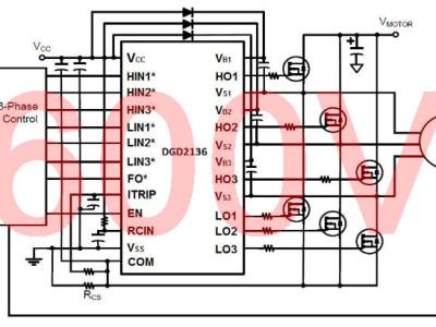 Driver voor driefasenmotoren met 3,3V-logica