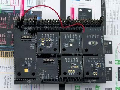 Review: ROHM SensorShield - gemakkelijk sensoren testen met Arduino