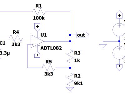 Single Opamp Voltage Controlled Oscillator