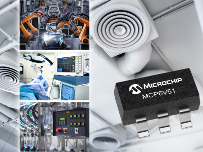 Nieuwe 45 V operationele versterker zonder drift levert ultrahoge nauwkeurigheid plus EMI onderdrukking