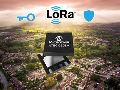 Eerste industriële eind-naar-eind LoRa® beveiligingsoplossing met beveiligingssleutel van Microchip en ondersteuning door The Things Industries