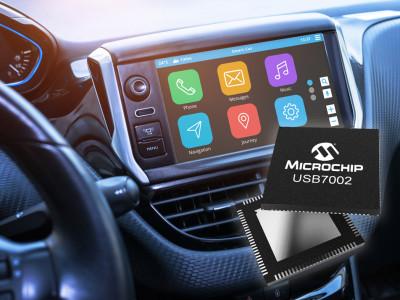 Eerste industriële USB 3.1 SmartHub met type-C™ ondersteuning voor auto's met 10x hogere datasnelheden in infotainment systemen
