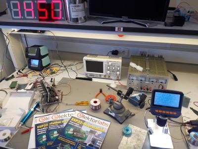 Het inrichten van een elektronicawerkplaats