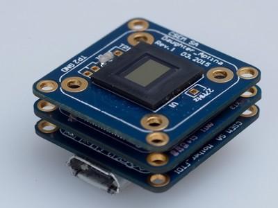 Micro-camera met afmetingen van 16,5 x 16,5 x 3 mm