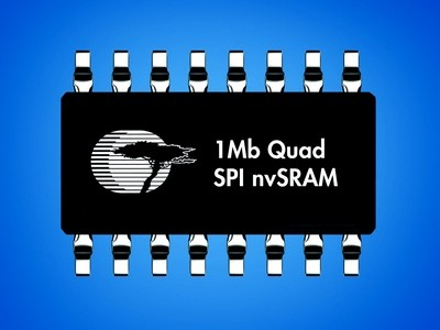 1Mb nvSRAM met quad-SPI-interface