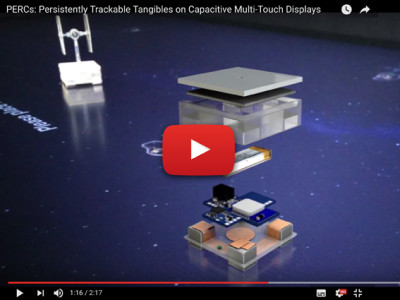 Voortdurend detecteerbare tangibles op capacitieve multi-touch-displays