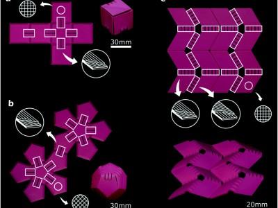 Zelfvouwende constructies uit 3D-printer