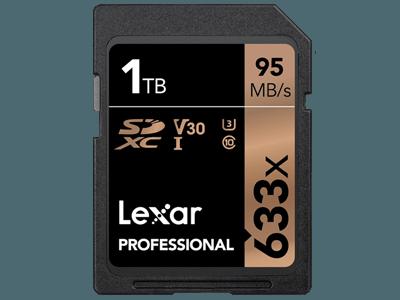 Record: SD-kaart van 1TB van Lexar