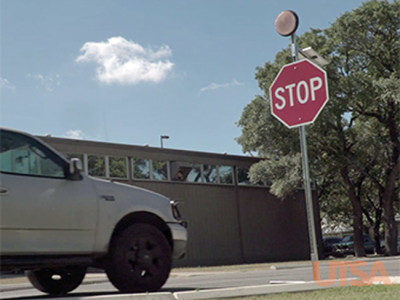 Stopbord 2.0 met knipperlicht voorkomt ongelukken