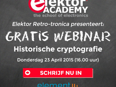 Elektor-webinar: Historische cryptografie