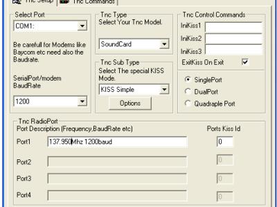 Port configuration in AGWPE.