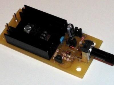 Ansicht der Musterleiterplatte / Assembled PCB prototype