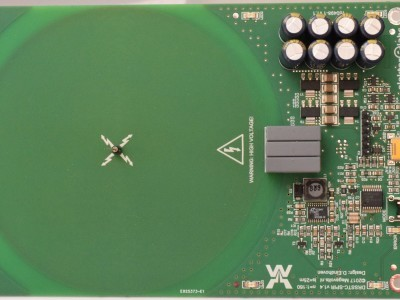 Top view of Spiral MicroTesla (PCB 160498-1 v1.1)