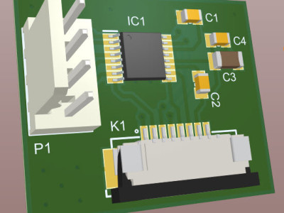 Figure-6, A 3D view of the assembled PCB board