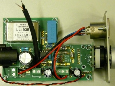 All cables connected to the microphone preamplifier PCB