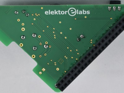 Bottom view PCB 160520-1 v2.0, FM Radio Receiver for RPi