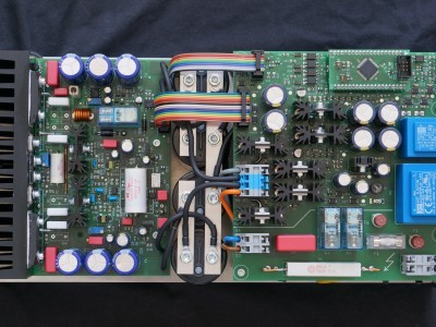 In current version a micrcontroller control the amplifier.