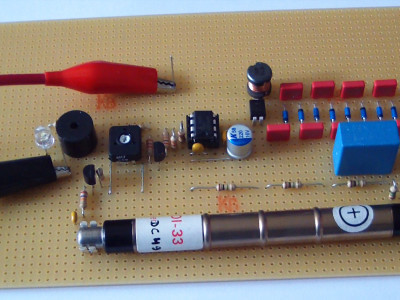 Prototype of the HV power supply with GM tube