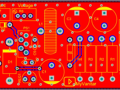 Figure-2  PCB layout of the switching power supply