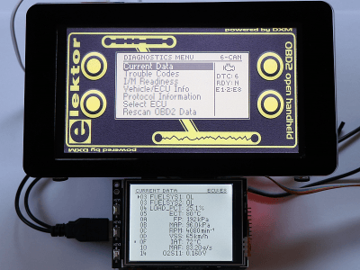 """HHGui OBD2 Software on 7"""" and 3.2"""" TFT touch displays"""